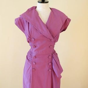 Dresses & Skirts - Vintage Purple Wiggle Pin Up Dress